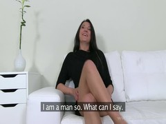 Dick-addicted bitch is trying to impress an awesome interviewer Thumb