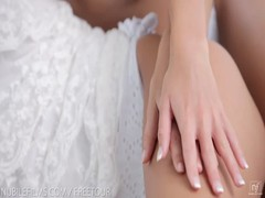 Nubile Films - Gina licking jizz off of Didos perfect ass Thumb