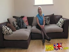 FakeAgentUK Hot British chick doubts agent in hardcore Thumb