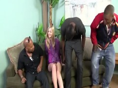 Cute Young Blonde Interracial Gangbang Thumb
