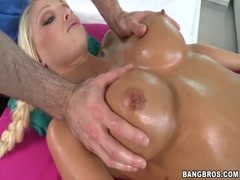 Busty blonde Rikki Six has awesome massage Thumb