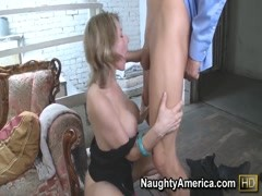 Naughty Velicity Von in the Office bent over to get fucked doggy style Thumb