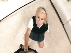 adorable  blondie schoolgirl is totally ready for rod Thumb