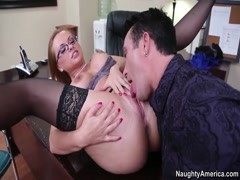 Katja Kassin and Billy Glide fierce office pairing off Thumb