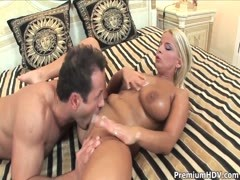Lucy Love gets two fat rods in her wet holes Thumb