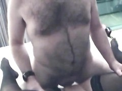 hairy guy ravages super hot amateurs in a hotel room Thumb