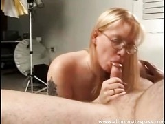 ugly inexperienced minx with glasses throttling prick Thumb