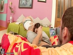 Teen Stacy Snake bangs with her boyfriend Thumb
