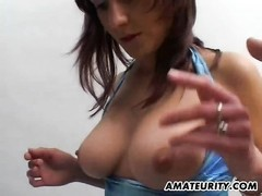 A attractive fledgling girlfriend with favorable big breasts homemade hardcore action with oral job Thumb