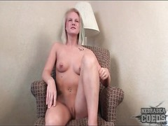 Pierced nipples inexperienced has a warm clean-shaved  vulva Thumb