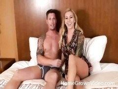 blondy and her boyfriend film a pro porno Thumb