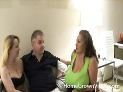 Cuckold watches his curvy wife with another boy Thumb