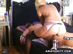 A huge-titted blondie amateur escort sucks and screws doggystyle with affable jizz shot on her super Thumb