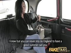 FakeTaxi - She is left with jizz primitive her leg Thumb