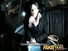 FakeTaxi - cute barmaid deepthroats taxi cock Thumb