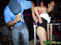 Brazilians jiggling arse At The Club Thumb