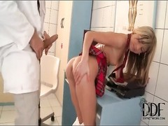 Doctor fucks skinny schoolgirl with big cock Thumb