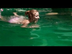 swimsuit  honey  swims and fingers her fuckbox outdoors Thumb