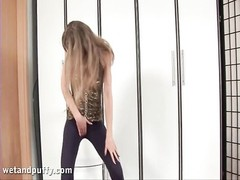 Cameltoe fuckbox lips spy hot in spandex pants Thumb