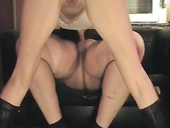 naughty fledgling  in boots rides penis Thumb