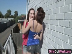 hairy lesbo Annabelle munched  and kissed Thumb