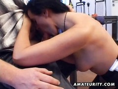 A disagreeable brunette primitive amateur housewife homemade xxx  action with bj and ravage ending w Thumb