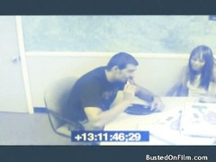 pause room blowjob caught on security camera Thumb