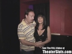 Cock craving Anna gets taken to her 1st Theater where Anna bares all an DirtyD gets a Blowjob why a Thumb