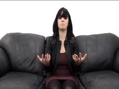 Casting couch deep throat from a lovely brunette Thumb