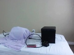 Lelu Love rides the Sybian during a webcam show 2 Thumb