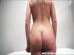 blondy fledgling  blows and plumbs in casting session Thumb