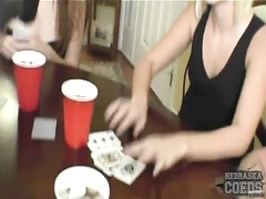 chicks play strip poker and position bare Thumb