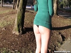 Big Bottom Brunette Has a Gorgeous Ass! Thumb