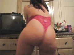 Round assed sweetheart  in cool panties loves to taunt Thumb
