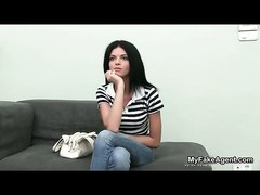 nice brunette teen inexperienced gets talked into undressing for work by MyFakeAgent from MyFakeAgen Thumb