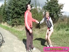 youthfull  blonde likes jogging and ravaging Thumb