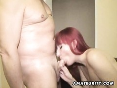 A sinful redhead amateur gf  homemade xxx  act with 3 chisels dead! She deep throats and plumbs and Thumb