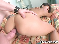 blondie chinese bitch gives her arse up for a penetrate Thumb