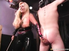 Very horny blondie milf hogties her insane  hubby Thumb