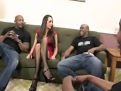 Kaylynn rough black cock gangbang Thumb