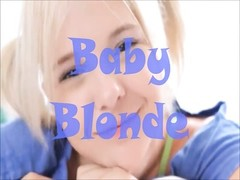 teen Baby yellow-haired Nikki Plays on the Bed Thumb