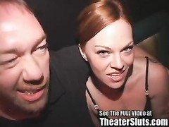 red Head whore Queen Kayce pulverized In Porno Theater Thumb