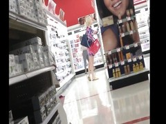 Candid gorgeous blonde in Target Thumb