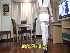 Thai Wench spanked  In Irons Thumb