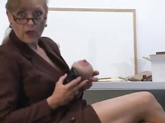 In charge milf jerks and sprays Thumb
