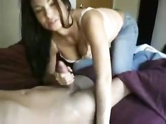 fantastic cocksucking brunette works him Thumb