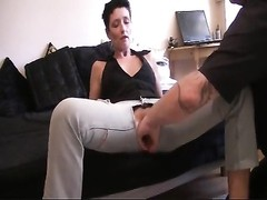 Pierced pussy fisted through cut begin jeans Thumb