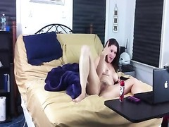 fur covered  vagina dame on her webcam fucktoys Thumb