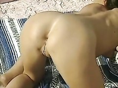 Horny milf fucked at desert and sweat from the heat Thumb