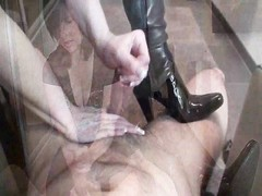 woman in leather shoes gives suitable handjob Thumb